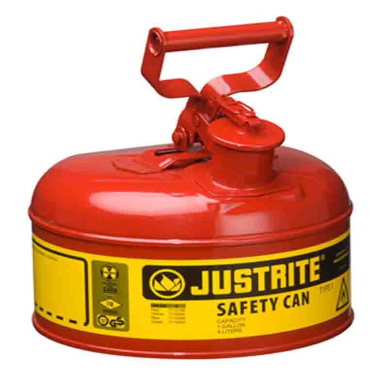 Justrite 7110100 Type I Steel Safety Can 1 Gallon (4L)