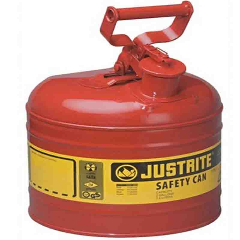 Justrite 7120100 Type I Steel Safety Can For Flammables