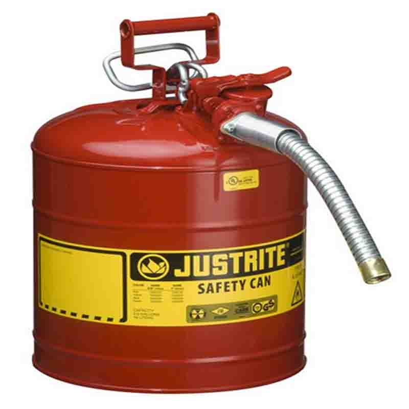 Justrite 7250130 Type II AccuFlow™ Steel Safety Can For Flammables
