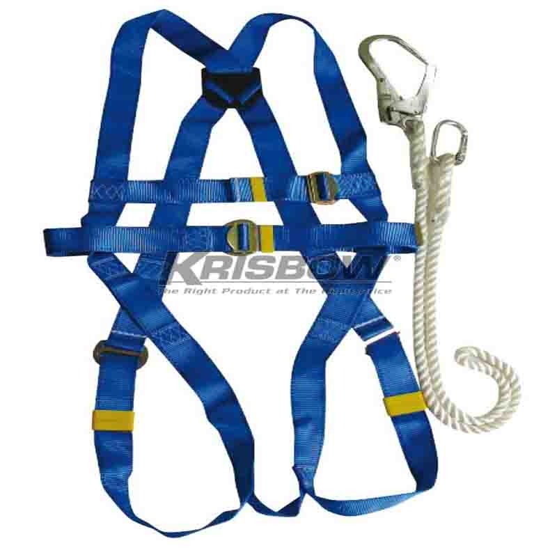 Krisbow KW1000438 FULL BODY HARNESS WITH LANYARD